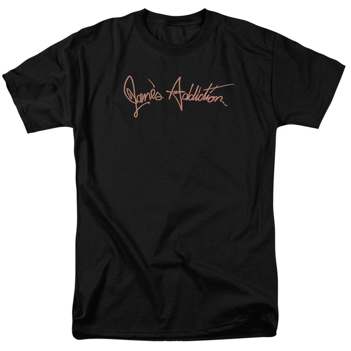 Janes Addiction - Script Logo Short Sleeve Adult 18/1 Tee - Special Holiday Gift