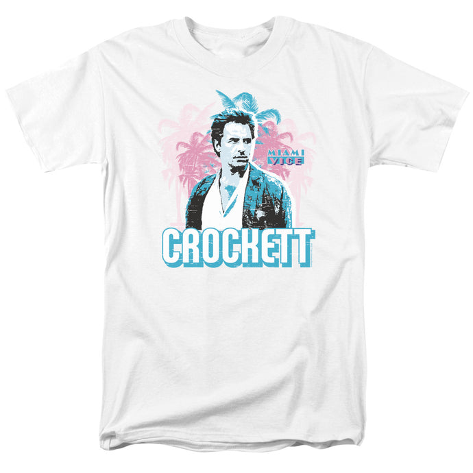 Miami Vice - Crockett Short Sleeve Adult 18/1 Tee - Special Holiday Gift
