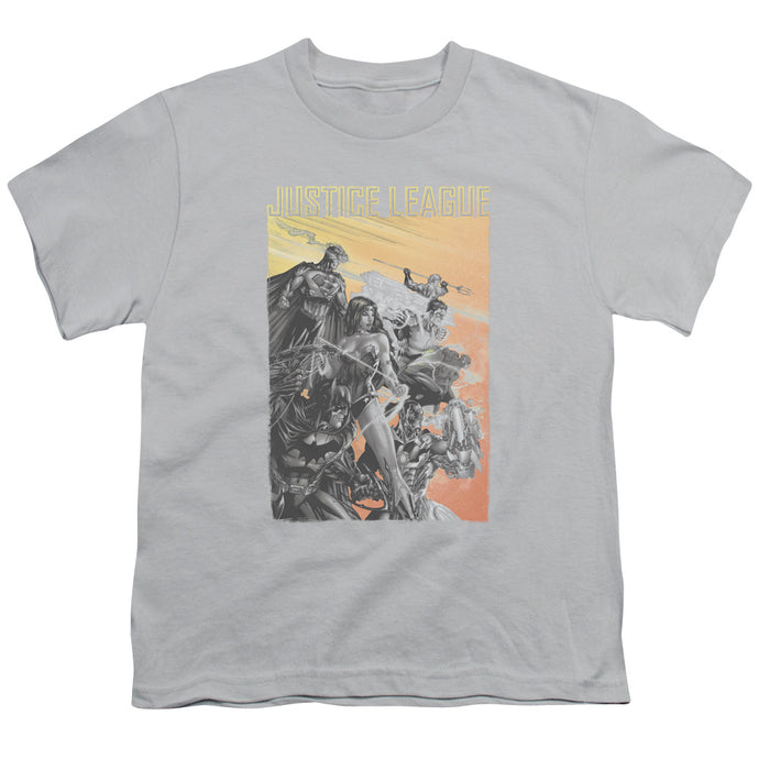 Jla - Red Dawn Short Sleeve Youth 18/1 Tee - Special Holiday Gift