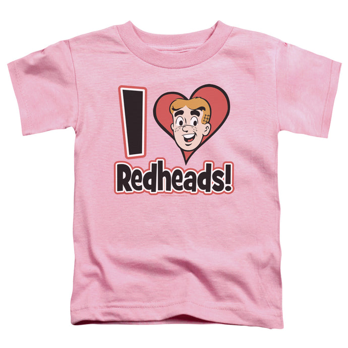 Archie Comics - I Love Redheads Short Sleeve Toddler Tee - Special Holiday Gift