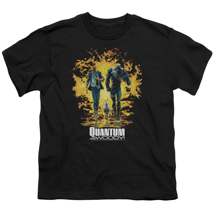 Quantum And Woody - Explosion Short Sleeve Youth 18/1 Tee - Special Holiday Gift
