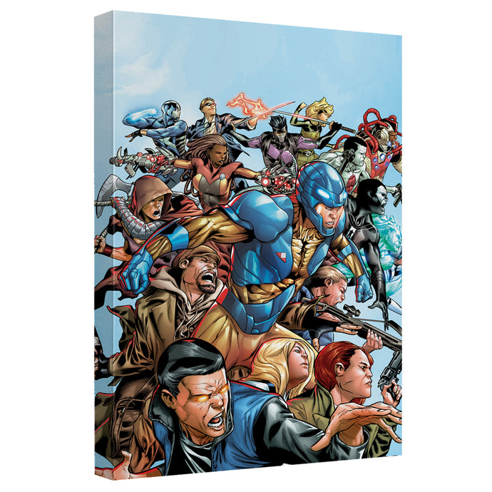 Valiant - Group Attack Canvas Wall Art With Back Board - Special Holiday Gift