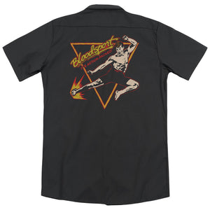 Bloodsport - Action Packed(Back Print) Adult Work Shirt - Special Holiday Gift