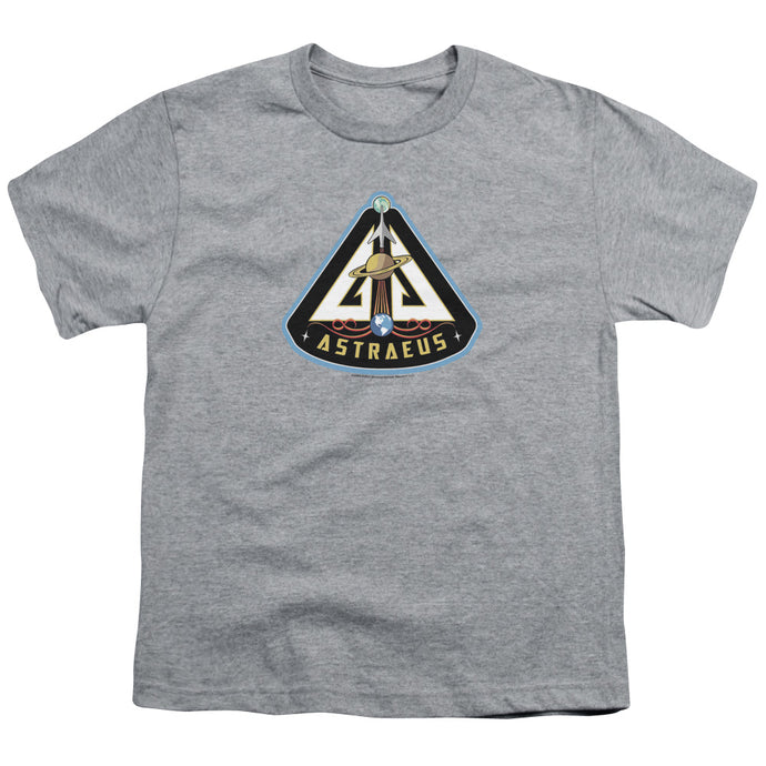 Eureka - Astraeus Mission Patch Short Sleeve Youth 18/1 Tee - Special Holiday Gift