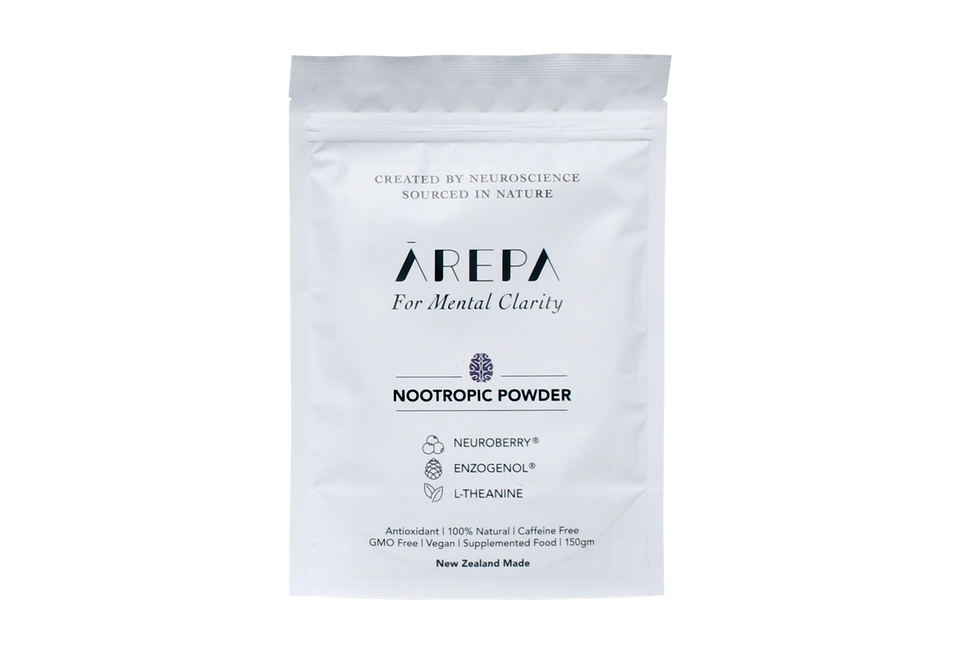 Ārepa Nootropic Powder | Arepa | L-theanine | Enzogenol | Blackcurrant