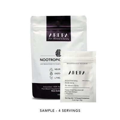 Ārepa Brainfood Trial - Drink Ārepa, For Mental Clarity |  Natural Nootropic | Nootropic Drink | Brain Drink | Performance Drink | Nootropics NZ | Enzogenol | L theanine NZ | | Health Drink | Brain Food | Braintenance | Nootropic Powder | Neuroberry | Blackcurrant Drink | Pine Bark Extract | Blackcurrant Extract