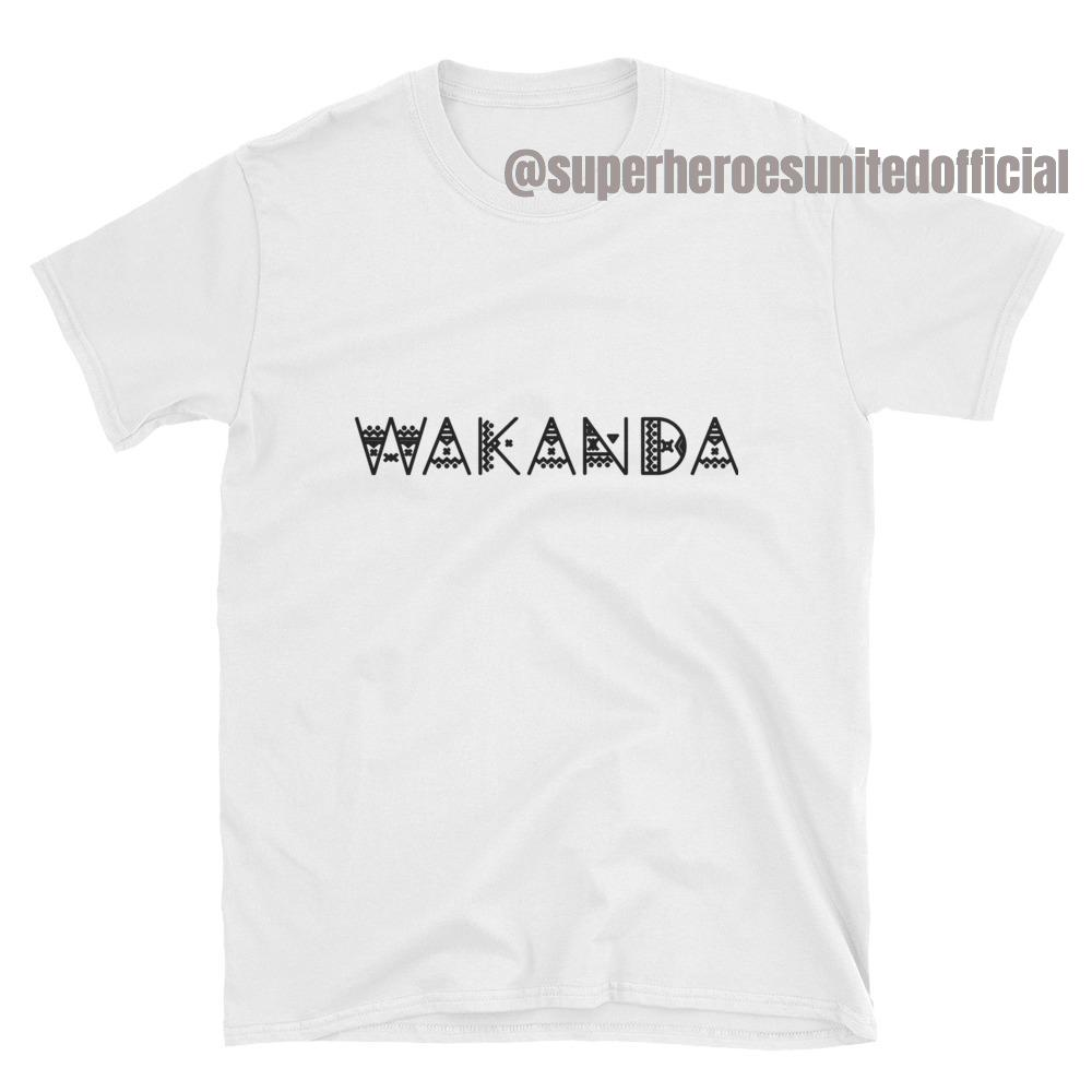Black Panther - Wakanda T-Shirt White  b099607c0