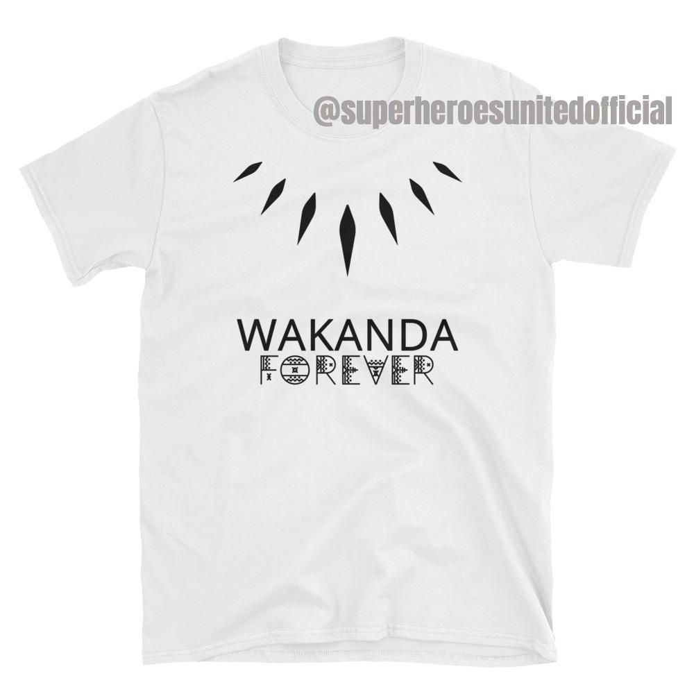Black Panther - Wakanda Forever T-Shirt White  89167e229