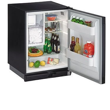 U-Line C01175 Origins Ice-Maker with Black Door