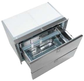 Isotherm 190 Litre 2-Drawer Stainless Steel 12 or 24 Volt & 240 VAC  - DR190 3190BA7C