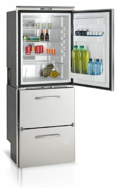 Vitrifrigo DW360BTX - 221 litre Fridge   64 litre 2 x Drawer Freezer Stainless Steel (039501)