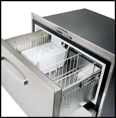 Vitrifrigo DW70BTX-ICE 75 Litre Drawer Litre Freezer with Built-in Ice Maker 220-240v (041531)