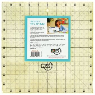 "Quilter's Select Quilting Ruler - Select 10"" x 10"" Non-Slip Ruler"