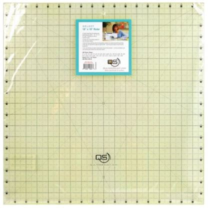 "Quilter's Select Quilting Ruler - Select 18"" x 18"" Non-Slip Ruler"