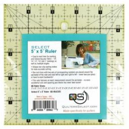 "Quilter's Select Quilting Ruler - Select 5"" x 5"" Non-Slip Ruler"