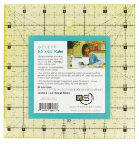 "Quilter's Select Quilting Ruler - Select 6.5"" x 6.5"" Non-Slip Ruler"