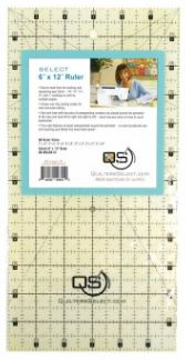 "Quilter's Select Quilting Ruler - Select 6"" x 12"" Non-Slip Ruler"