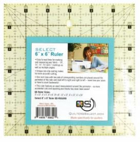 "Quilter's Select Quilting Ruler - Select 6"" x 6"" Non-Slip Ruler"