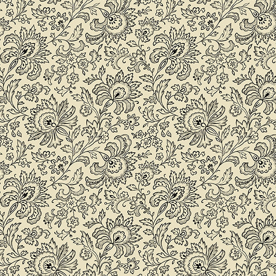 French Chateau Ebony and Ivory Paisley- Renee Nanneman