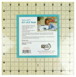 "Quilter's Select Quilting Ruler - Select 8.5"" x 8.5"" Non-Slip Ruler"