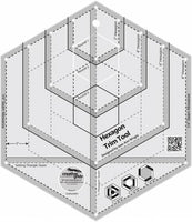 Creative Grids Hexagon Trim Tool Quilt Ruler