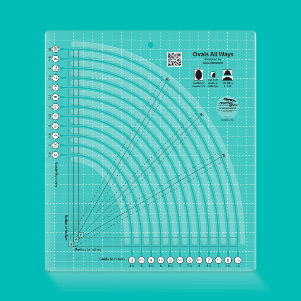 ***PRE-SALE*** Creative Grids Ovals All Ways Quilting Ruler