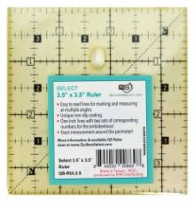 "Quilter's Select Quilting Ruler - Select 3.5"" x 3.5"" Non-Slip Ruler"