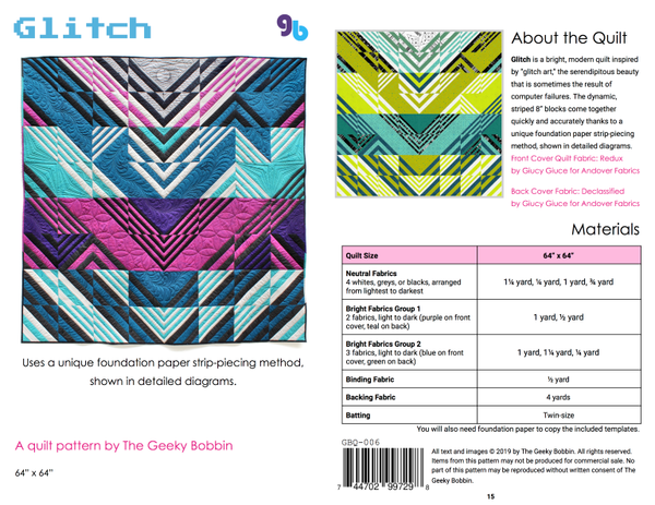 Glitch Quilt Pattern - The Geeky Bobbin