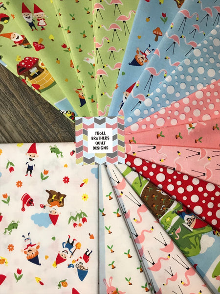 Riley Blake Gnome and Gardens Half Metre Bundle