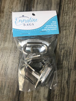Diamond Strap Anchor - Nickel Finish (4 Pack)