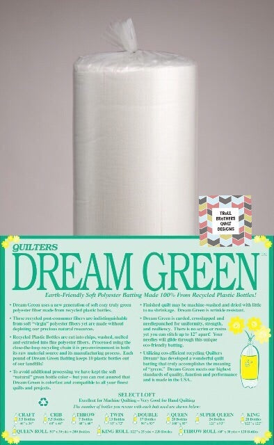 "Quilters Dream Green - 92"" Full Roll Batting (27m)"