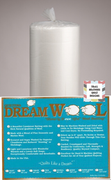 "Quilters Dream Wool - 92"" Full Roll Batting (22m)"
