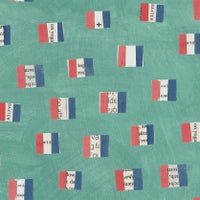 Windham - Carrie Bloomston - Wonder - French Flags - Aqua