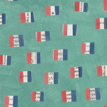 Carrie Bloomston - Wonder - French Flags - Aqua