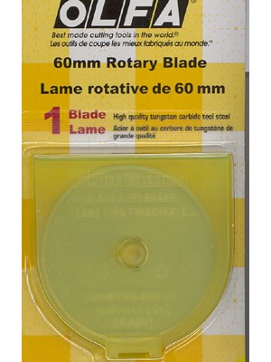 60mm Tungsten Tool Steel Rotary Blade - Single Pack