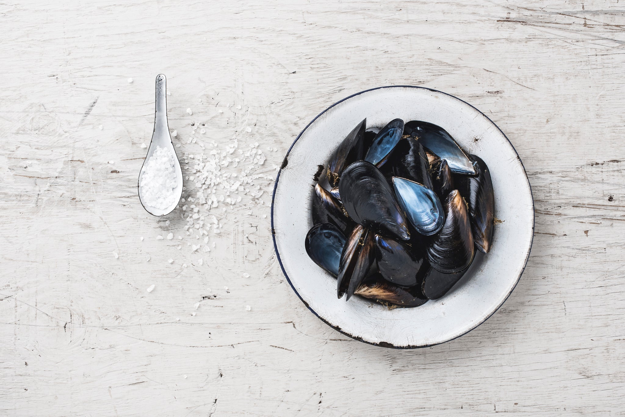 Tomato and chilli Mussels