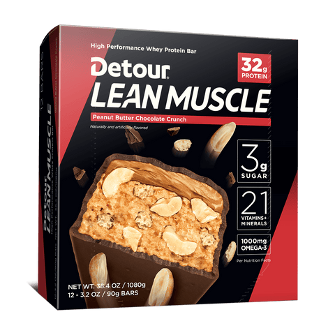 Detour Lean Muscle Peanut Butter Chocolate Crunch 12ct box