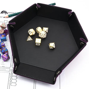Rolling Tray Velvet & Leather - RPG D&D Dice And Equipment - Torches & Swords