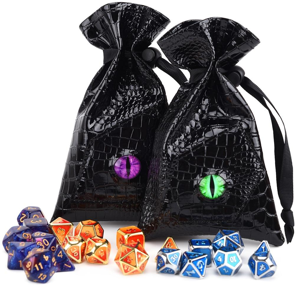 Slain Dragon Eye Pouch - RPG D&D Dice And Equipment - Torches & Swords