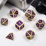Purple Magic & Gold Dust - RPG D&D Dice And Equipment - Torches & Swords