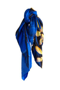 The Blue silk scarf
