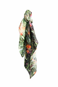 The Poppies silk scarf