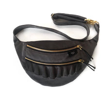 Load image into Gallery viewer, Basalt Ruffle Bumbag (Gold)