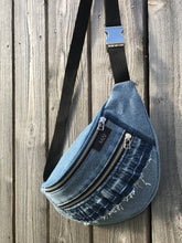 Load image into Gallery viewer, Upcycled Denim Ruffle Bag