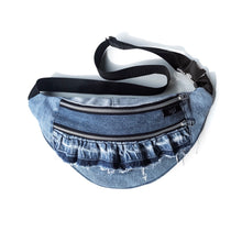 Load image into Gallery viewer, Upcycled Denim Bumbag