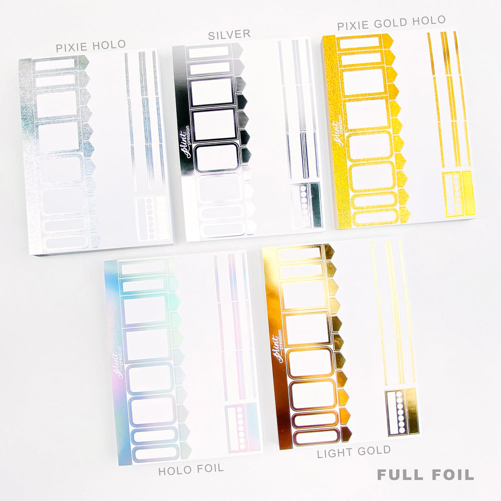 FULL FOIL FUNCTIONAL SHEET