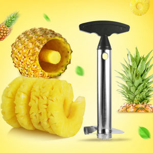 STAINLESS STEEL PINEAPPLE CUTTER CORER AND SLICER - Dudevillage