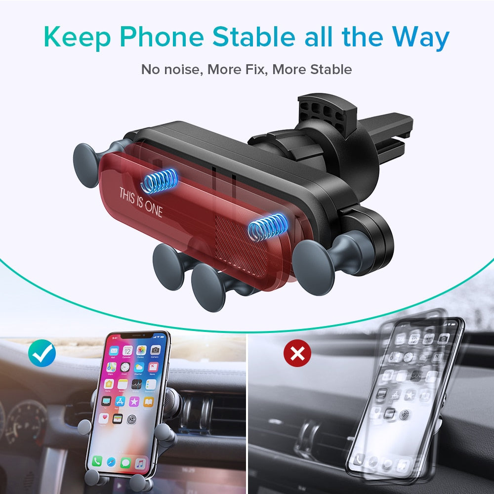 Gravity Car Phone Mount - Dudevillage