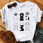 Cats Print Summer T-Shirt