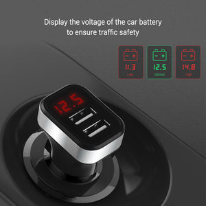 Car-Charger with LED Screen - Dudevillage